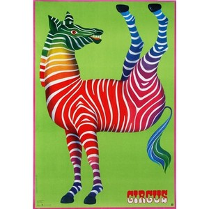 Zebra, Circus, Polish Cyrk...