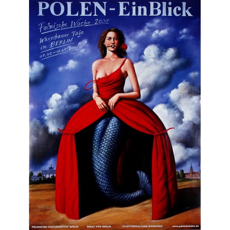 Polen Ein Blick Polski Plakat Imprezowy Rafał Olbiński