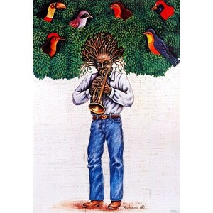 Trumpeter with Tree-Hair,...