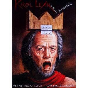 King Lear,  polski plakat...