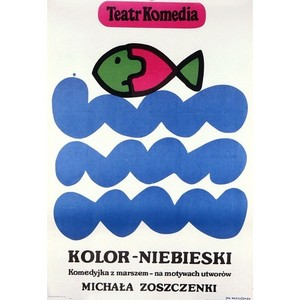 Kolor niebieski, Polish Poster