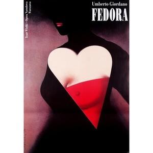 Fedora, Polish Opera Poster
