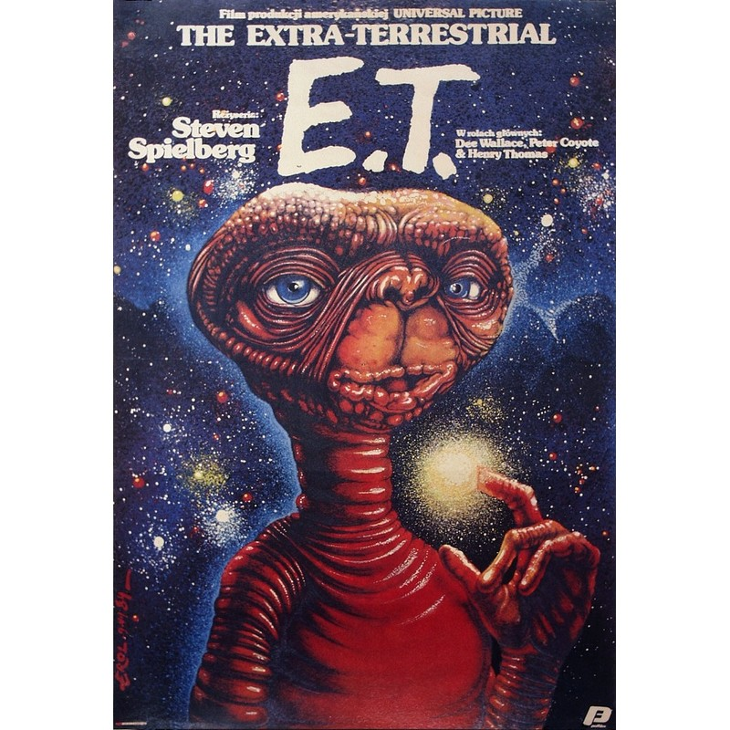 E T The Extra Terrestrial Polish Movie Poster