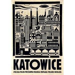 Katowice, polski plakat...