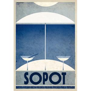 Sopot, polski plakat...