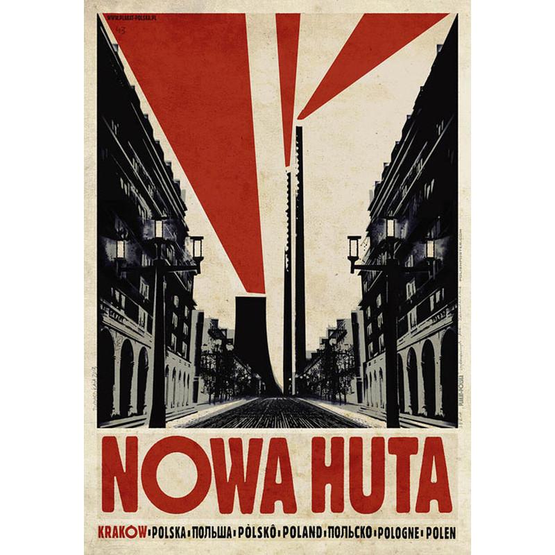 Nowa Huta Polski Plakat Turystyczny