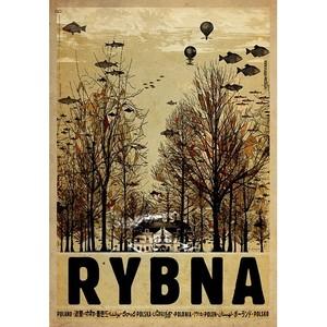Rybna, polski plakat...