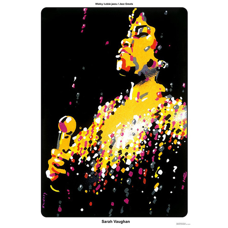 Sarah Vaughan Plakat Z Serii Jazz Greats Waldemar świerzy