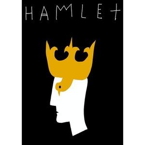 Hamlet, plakat teatralny,...