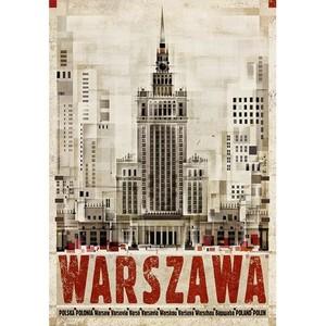 Warszawa, plakat z serii...