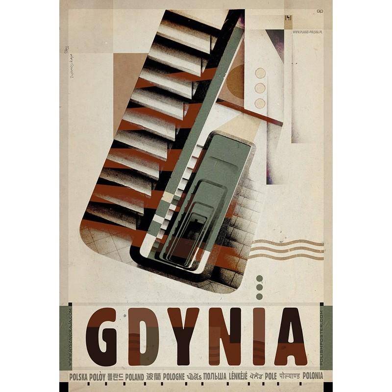 Gdynia Plakat Z Serii Polska Ryszard Kaja