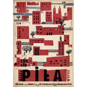 Piła, plakat z serii Polska...