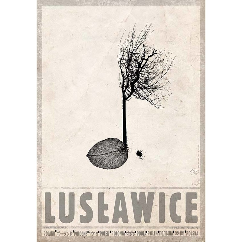 Lusławice Plakat Z Serii Polska Ryszard Kaja
