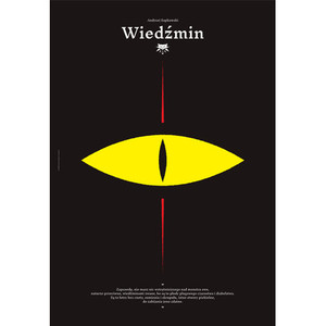 Wiedźmin, plakat autorski,...