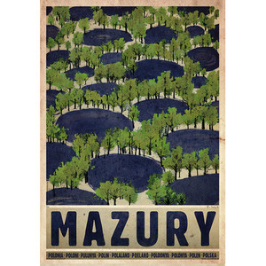 Mazury-lato, plakat z serii...