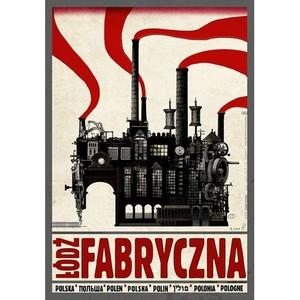Łódź Fabryczna, plakat z...
