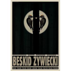 Beskid Żywiecki, plakat z...