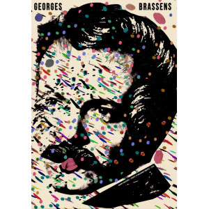 Georges Brassens, plakat,...