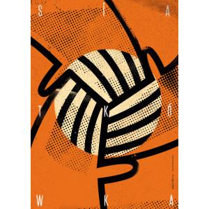 Siatkówka, plakat sportowy,...