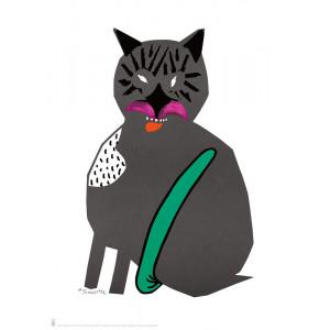 Kot, reprint ilustracji,...