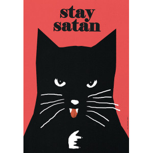 Stay Satan, Cat Poster by...