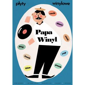 Papa Winyl, plakat, Kaub...
