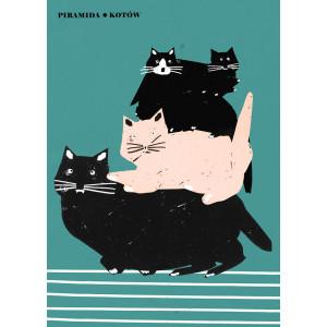 Piramida kotów, plakat,...