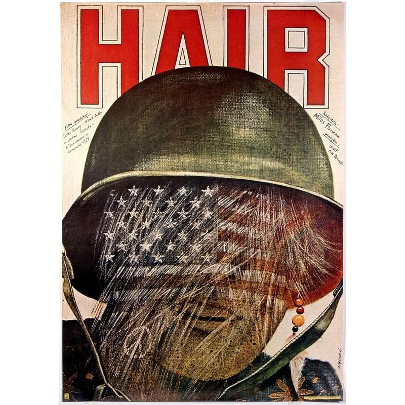 0610-hair-milos-forman-polish-movie-post