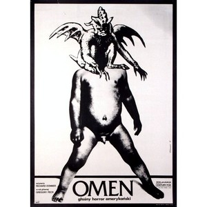 Omen, polski plakat...