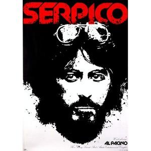 Serpico, polski plakat filmowy