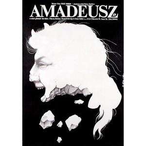 Amadeusz, polski plakat...